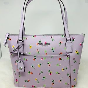 Kate spade Cameron pocket tote wildflower purple